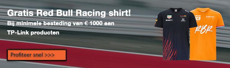 Red Bull Racing shirt bij TP-Link