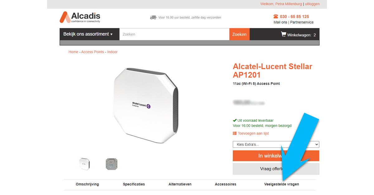 Veelgestelde vragen - Alcadis Shop