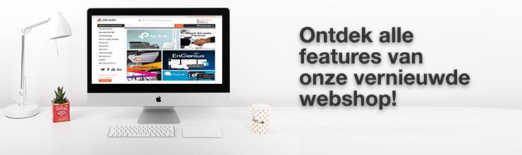 Nieuwe features vernieuwde webshop alcadis